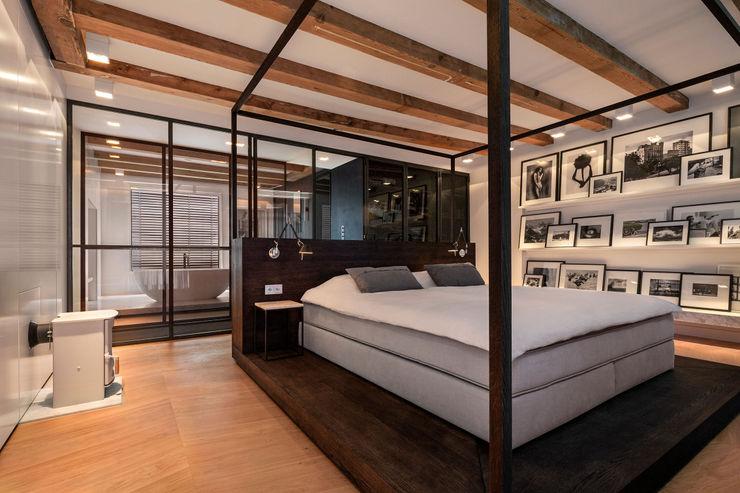 Sigrid van Kleef & René van der Leest - Studio Ruim Habitaciones modernas Madera