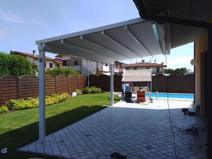 zinesi design Mediterranean style garden Iron/Steel White