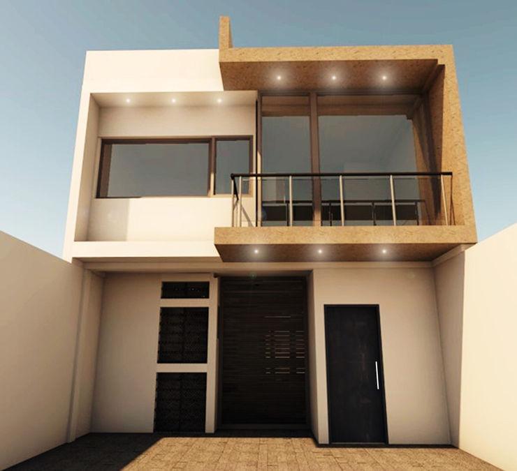 CASA SS001 Spacio.Status/Arquitectura Casas minimalistas Plástico Blanco