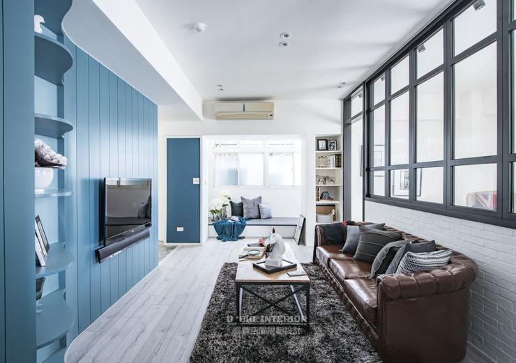 homify Ruang Keluarga Gaya Skandinavia Blue