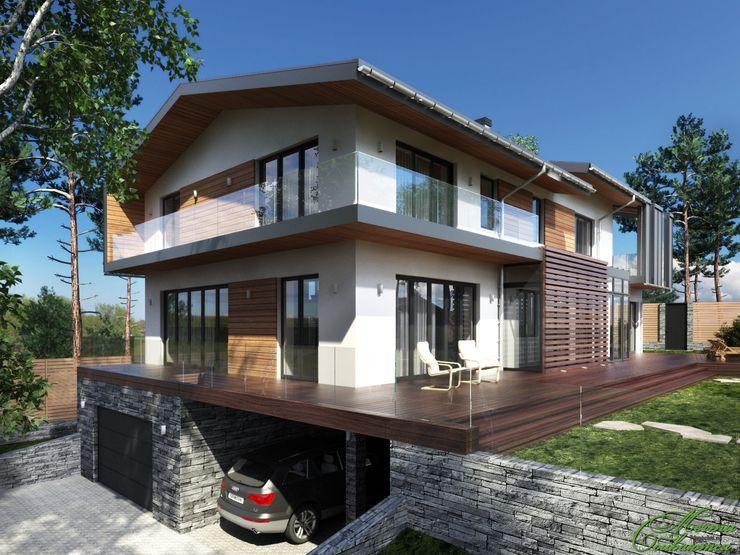 Дом на берегу озера Увильды Компания архитекторов Латышевых 'Мечты сбываются' Дома в стиле минимализм