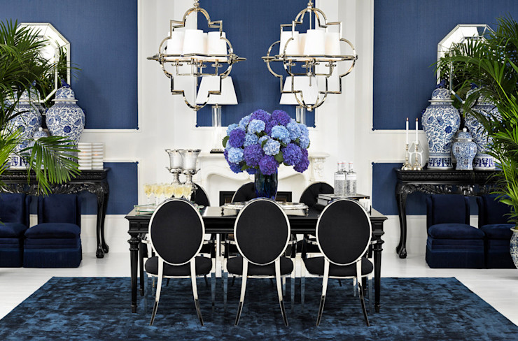 Conexo. Dining roomTables Textile Blue