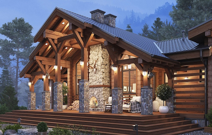 GOOD WOOD Rustic style house