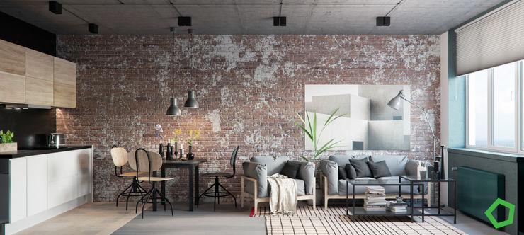 Living room Polygon arch&des Living room