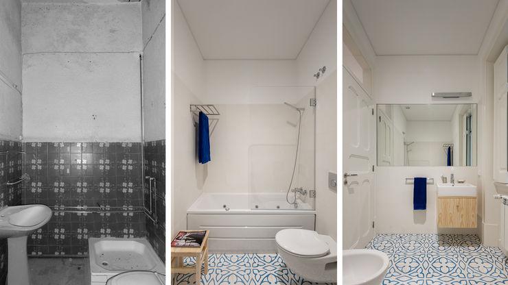 FMO ARCHITECTURE Mediterranean style bathroom Beige