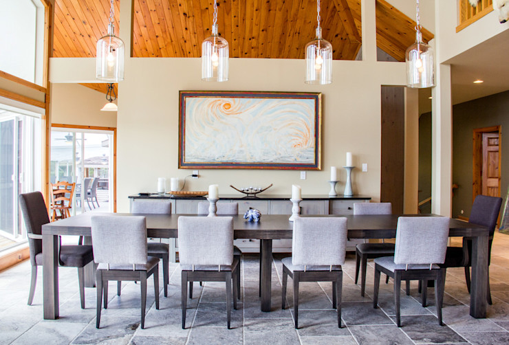 Lake of the woods cottage dining room Unit 7 Architecture 餐廳