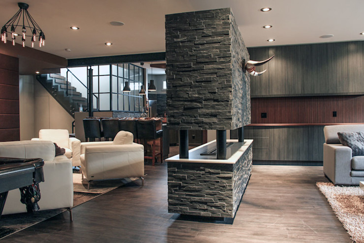 Bell fireplace Unit 7 Architecture Living room