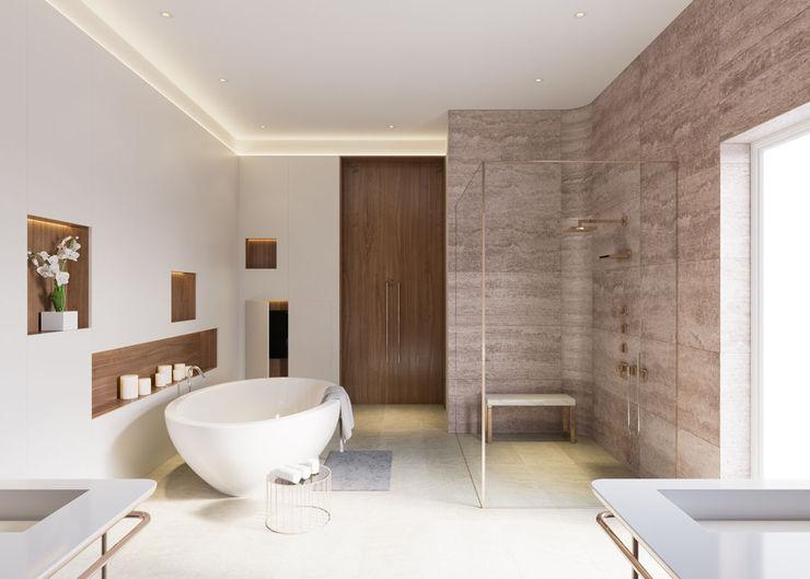 Private Residence, Azerbaijan ÜberRaum Architects Modern bathroom