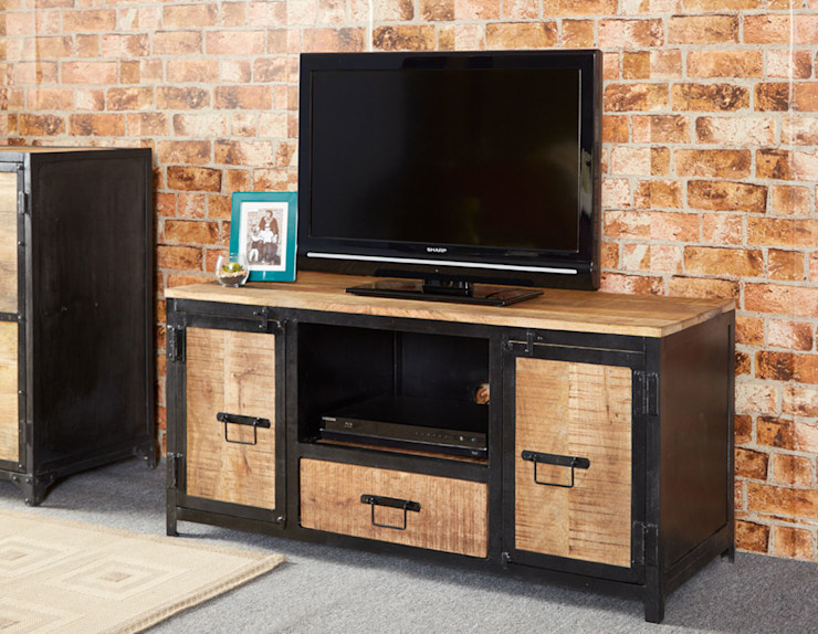 Cosmo Industrial TV Unit Industasia Living roomTV stands & cabinets