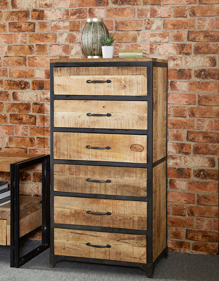 Cosmo Industrial Chest Industasia Living roomStorage