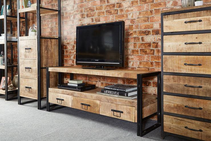 Cosmo Industrial TV Unit Industasia SalasMuebles de televisión y dispositivos electrónicos