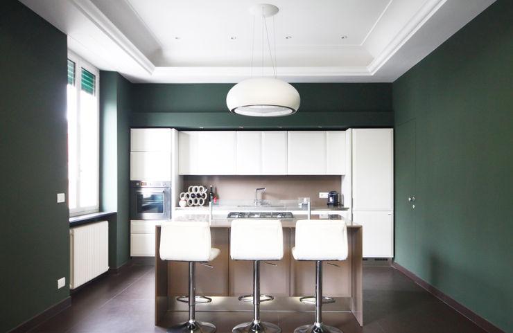 Andrea Orioli Minimalist Mutfak Yeşil
