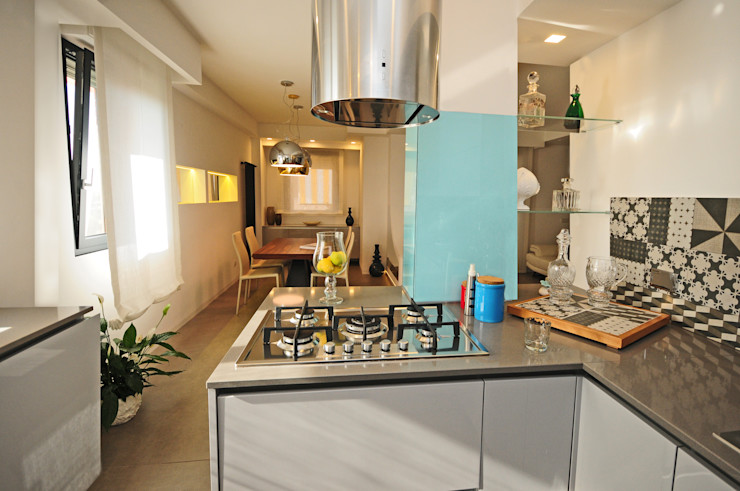 Cucina Kitchen Fabiola Ferrarello Cucina moderna Ferro / Acciaio Variopinto