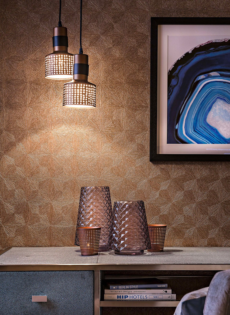 Conexo. Modern Study Room and Home Office Copper/Bronze/Brass Amber/Gold