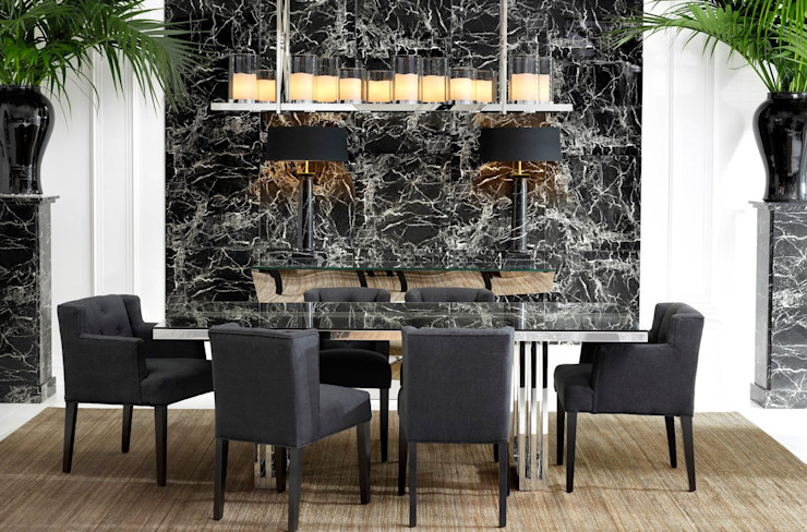 Conexo. Dining roomTables Metal Metallic/Silver