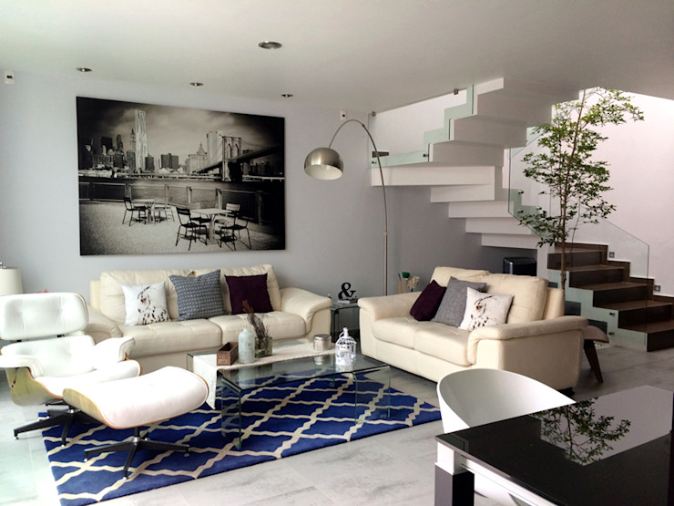 Privada Paraíso Base-Arquitectura Salones minimalistas
