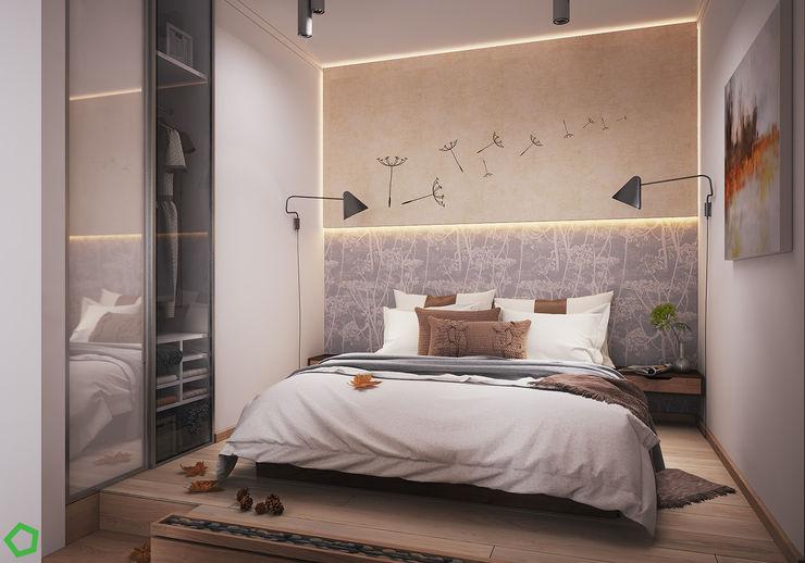 Bedroom Polygon arch&des Scandinavian style bedroom