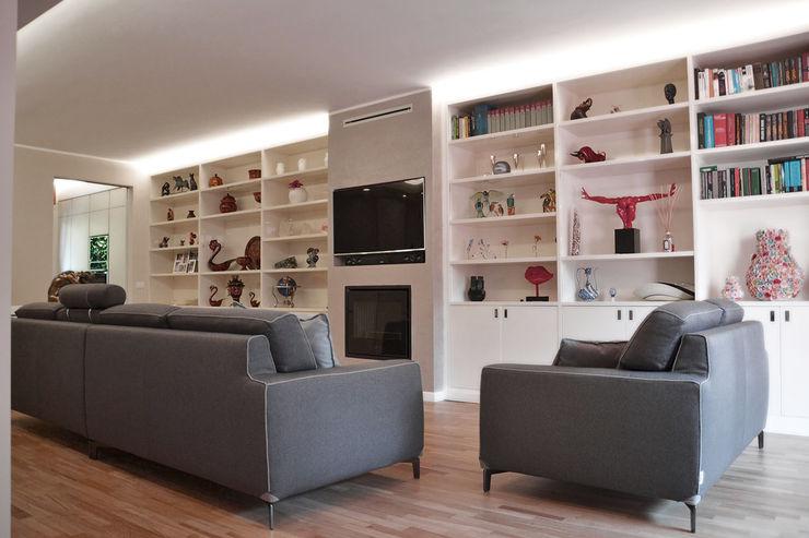 Villa Urbana DCA Studio - Davide Carelli Architetto Soggiorno moderno