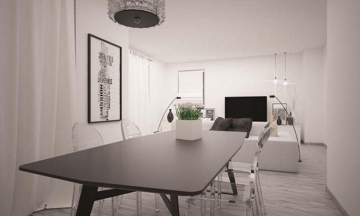 SALA DA PRANZO LAB16 architettura&design Sala da pranzo minimalista