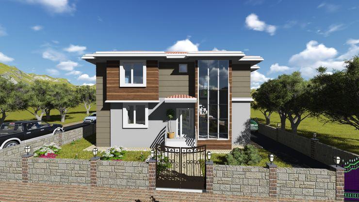 alfa mimarlık Casas de estilo moderno