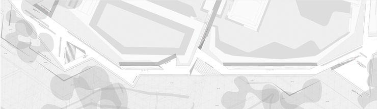 PLANTA DE CUBIERTAS ZEBRA LAB ARQUITECTURA Jardines de estilo moderno