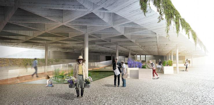 ACCESO PRINCIPAL ZEBRA LAB ARQUITECTURA Jardines de estilo moderno