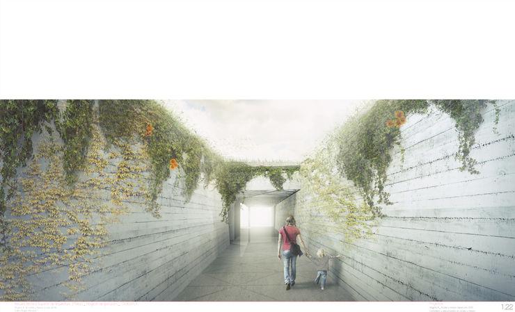 ACCESO SECUNDARIO ZEBRA LAB ARQUITECTURA Jardines de estilo moderno