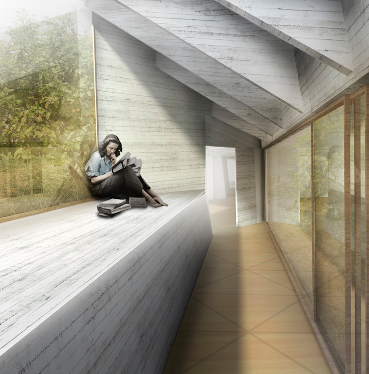 INTERIOR ZEBRA LAB ARQUITECTURA Jardines de estilo moderno
