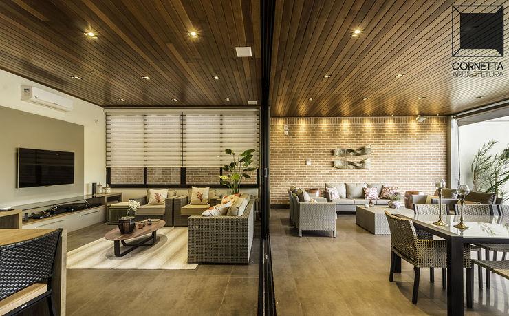 Cornetta Arquitetura Modern living room