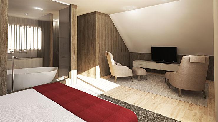 Suite_Firmino Inside Home Unipessoal LDA. Quartos modernos Multicolor