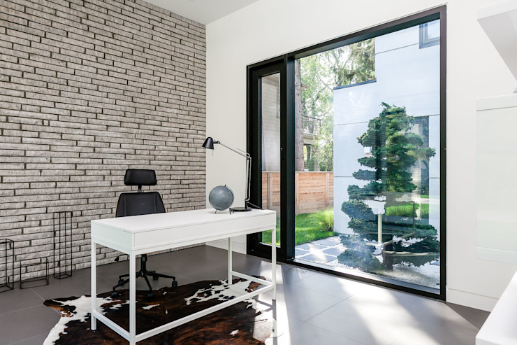 Frahm Interiors Modern Study Room and Home Office
