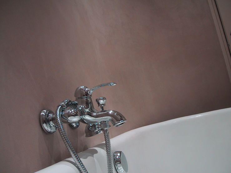 BETON2 Mediterranean style bathroom Concrete Amber/Gold