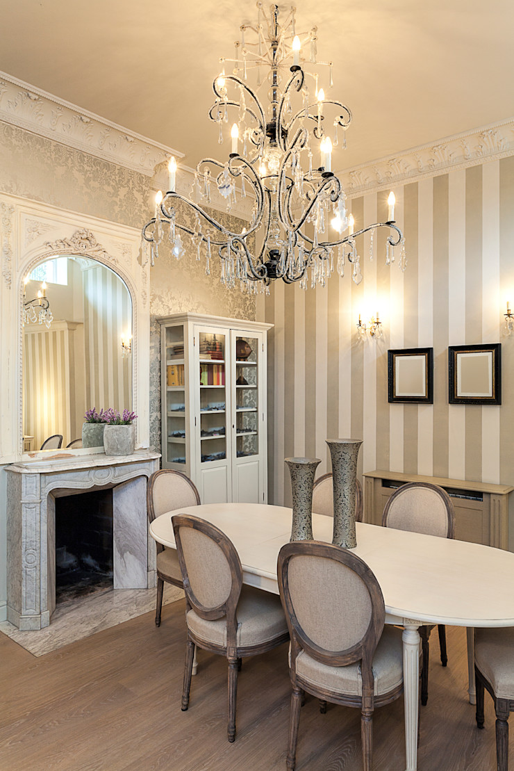 Classical Dining Space Gracious Luxury Interiors Classic style dining room White