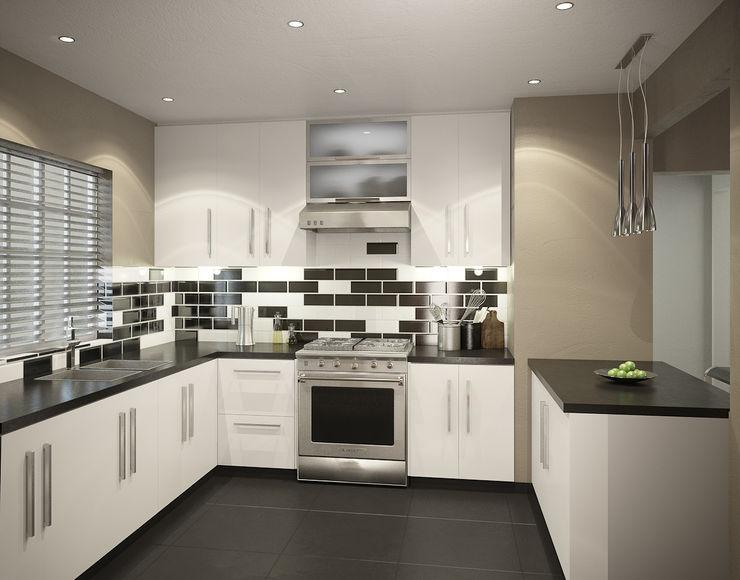 Residential French Lane HEID Interior Design Modern kitchen Granite Black