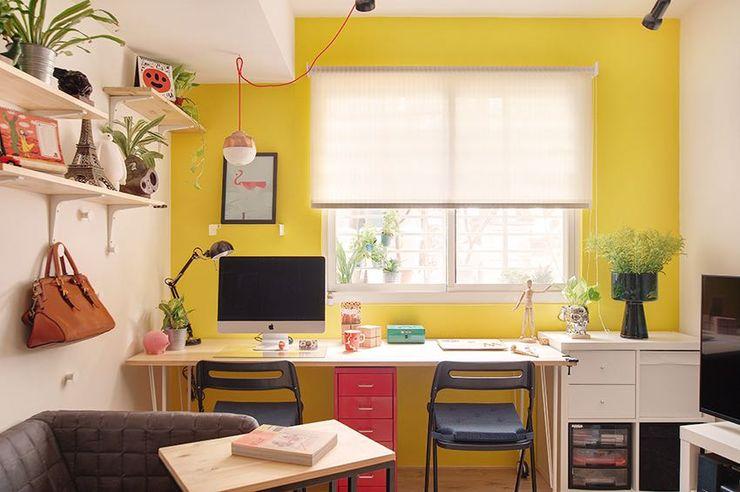 工作區域 一葉藍朵設計家飾所 A Lentil Design اتاق کار و درس