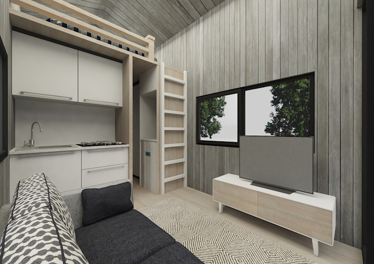 PRATIKIZ MIMARLIK/ ARCHITECTURE Salas de estar modernas