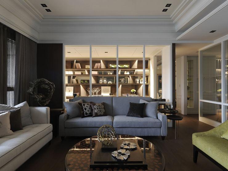 英式古典情挑 大荷室內裝修設計工程有限公司 Living room