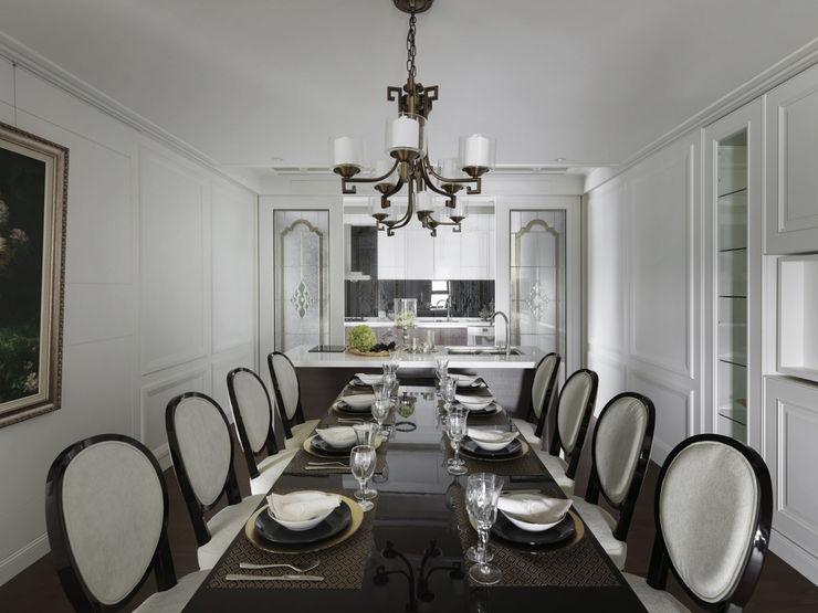 英式古典情挑 大荷室內裝修設計工程有限公司 Classic style dining room