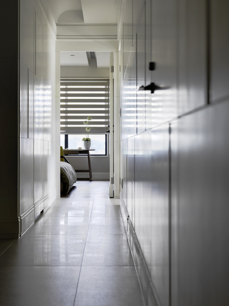 浪漫的歸屬 大荷室內裝修設計工程有限公司 Classic style corridor, hallway and stairs