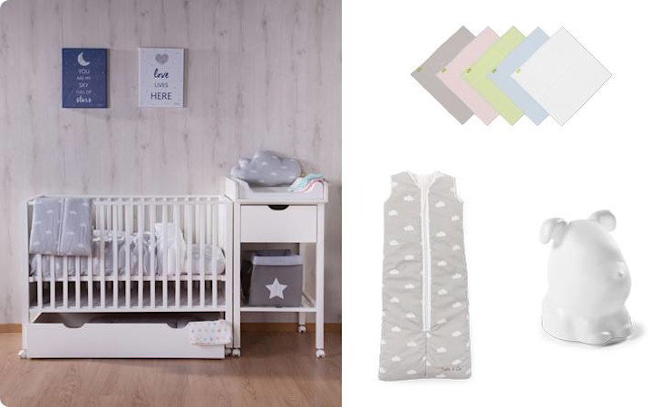 Baby Changing homify Baby room Wood White