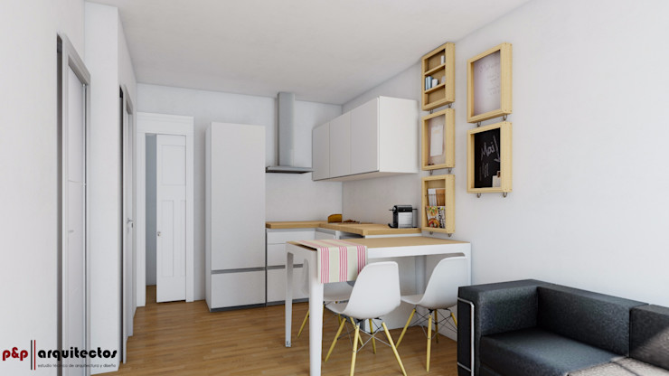 Reforma Integral de Vivienda de 32m2 en Peñíscola P&P arquitectos Cocinas modernas