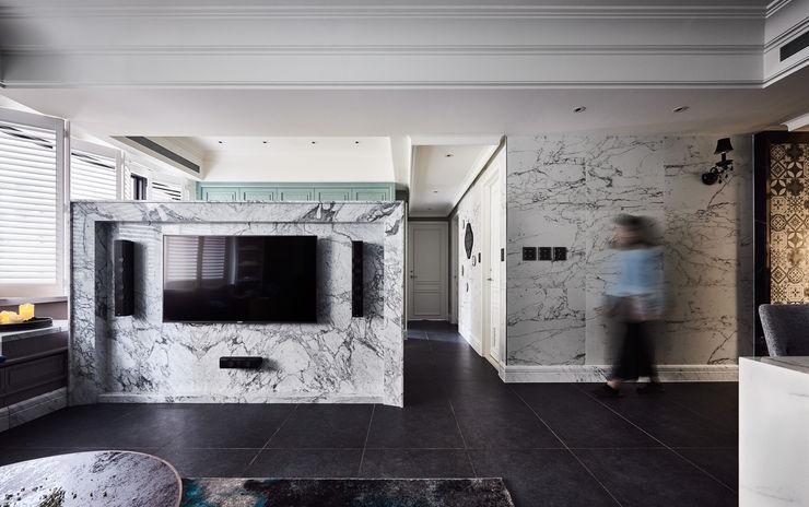 DYD INTERIOR大漾帝國際室內裝修有限公司 Living room Multicolored
