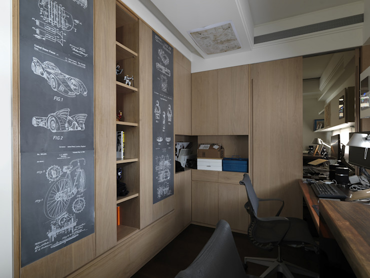 家的風景 大荷室內裝修設計工程有限公司 Study/office
