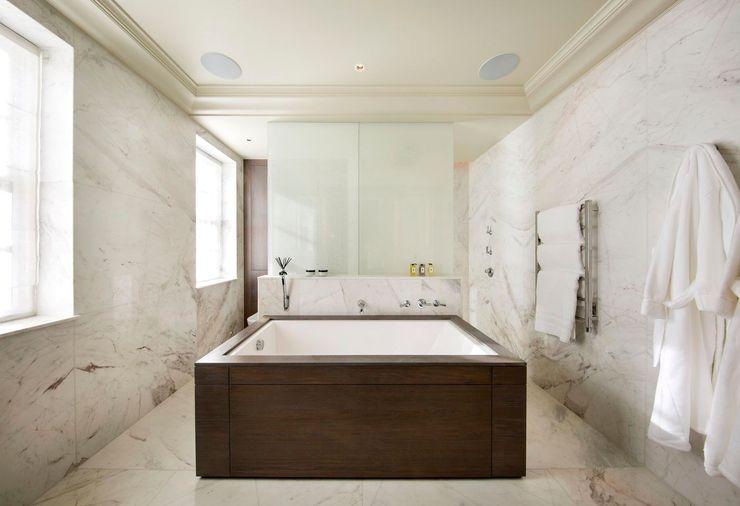 Bathroom KSR Architects Modern Bathroom Marble White