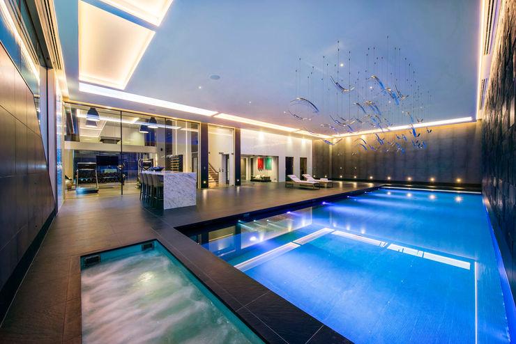 Swimming Pool KSR Architects Modern Pool Brown