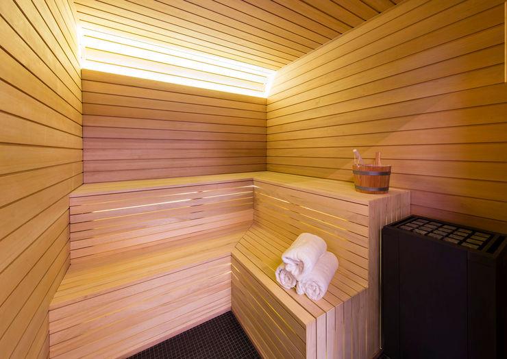 Sauna KSR Architects Modern Spa Wood Brown