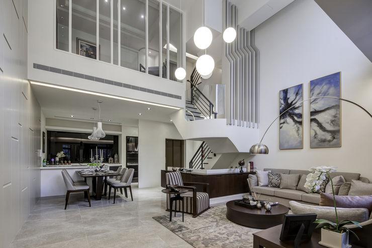 三代同堂度假別墅 大荷室內裝修設計工程有限公司 现代客厅設計點子、靈感 & 圖片