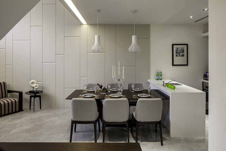 三代同堂度假別墅 大荷室內裝修設計工程有限公司 Modern Dining Room