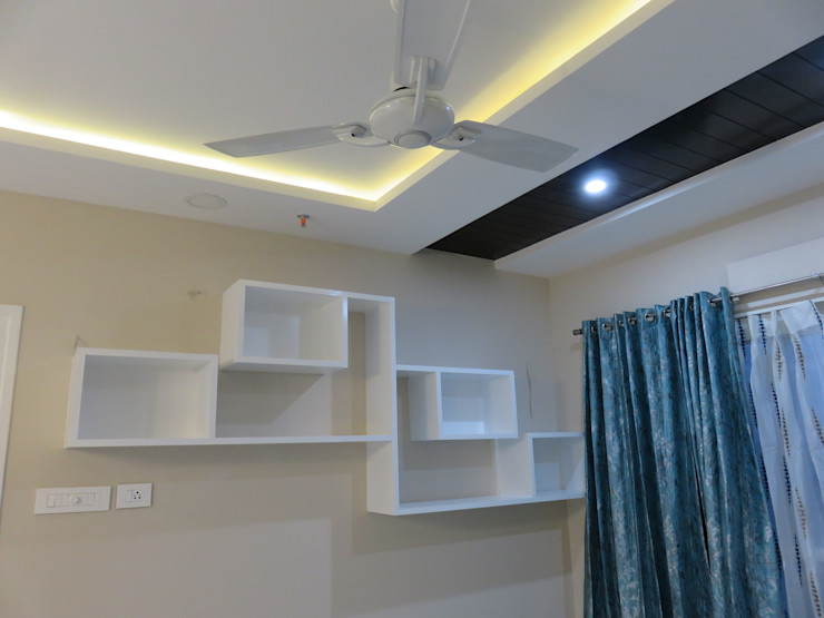 Bluebell Interiors Salas modernas Tablero DM Blanco