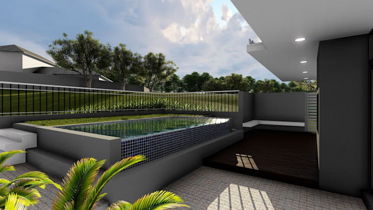 Ellipsis Architecture Piscinas de estilo moderno
